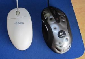 Levo: Stari FS miš, desno: Logitech Mx-518