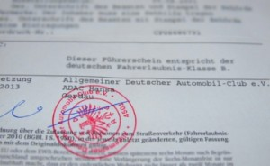 ADAC prevod vozačke dozvole - pečat