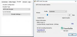 Winamp SHOUTcast encoder